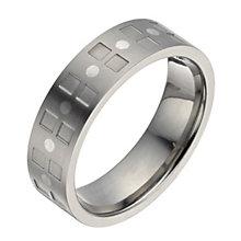 Titanium square pattern ring - Product number 1372777