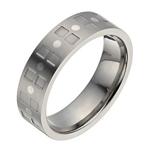 Titanium square pattern ring - Product number 1372777