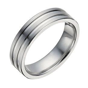 Cobalt matt & polish groove ring - Product number 1373188