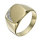 9ct yellow gold diamond cushion ring - Product number 1373315