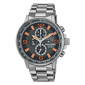 Citizen Eco-Drive Nighthawk Chronograph Bracelet Watch - Product number 1373447
