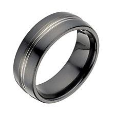 Titanium & black titanium ring - Product number 1373927