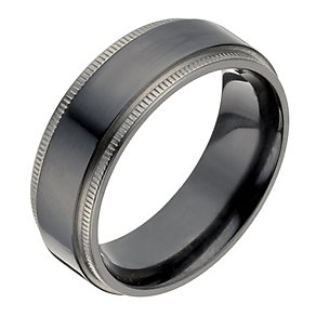 Titanium & black titanium ring - Product number 1374060