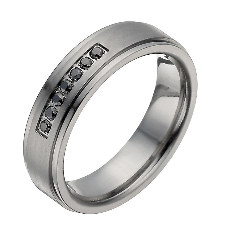Titanium treated black diamond ring - Product number 1374338
