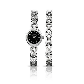 Sekonda Ladies' Stainless Steel Bracelet & Watch Set - Product number 1376918
