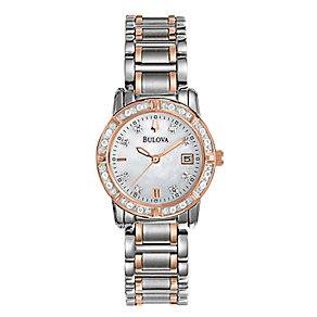 Bulova Highbridge Ladies' Diamond Two Tone Bracelet Watch - Product number 1376942
