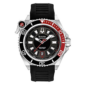 Bulova Precisionist Stainless Steel Black Rubber Strap Watch - Product number 1376950