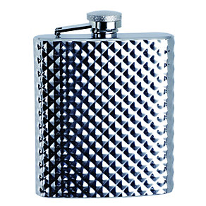 6oz Textured Hip Flask - Product number 1377345