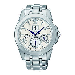 Seiko Men's Kinetic Stainless Steel Bracelet Watch - Product number 1377728