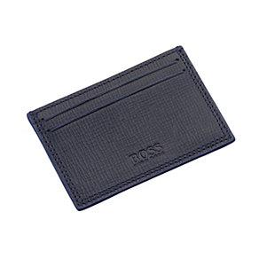 Hugo Boss Pliamo men's black & blue leather cardholder - Product number 1378104