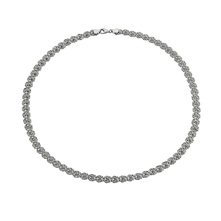 """Silver 17"""" Fancy Twist Necklace - Product number 1378481"""