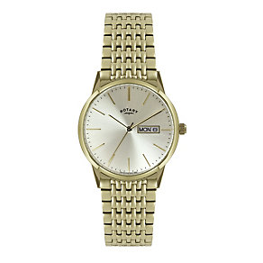 Rotary Men's Champagne Dial Gold-Plated Bracelet Watch - Product number 1379305
