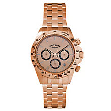 Rotary Men's Chronograph Rose Gold-Plated Bracelet Watch - Product number 1379550