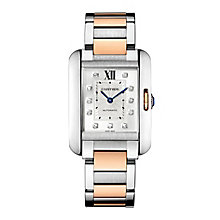 Cartier Tank Anglaise ladies' two colour bracelet watch - Product number 1379607