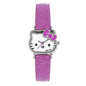 Children's Hello Kitty Face Pink Strap Watch - Product number 1380524