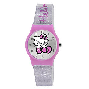Children's Hello Kitty Pink & Silver Glitter Strap Watch - Product number 1380680