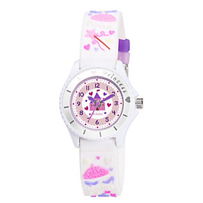 Tikkers Children's Princess White Rubber Strap Watch - Product number 1380702