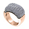 Adami & Martucci rose gold-plated mesh ring large - Product number 1381695