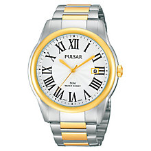 Pulsar Men's Two Tone Bracelet Watch - Product number 1382047