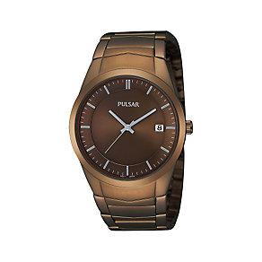 Pulsar Men's Gunmetal Bracelet Watch - Product number 1382055