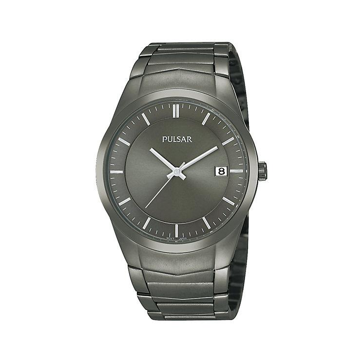 Pulsar Men's Gunmetal Bracelet Watch - Product number 1382063