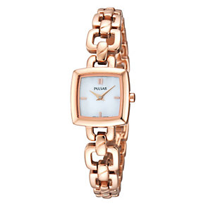 Pulsar Ladies' Rose Gold Tone Bracelet Watch - Product number 1382284
