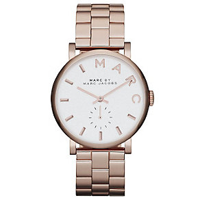 Marc Jacobs Baker ladies' rose gold-plated bracelet watch - Product number 1382993