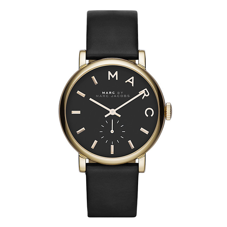 Marc Jacobs Baker Ladies' Gold Tone Black Strap Watch - Product number 1383000