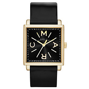 Marc Jacobs Truman ladies' gold-plated black strap watch - Product number 1383310