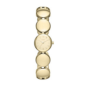 DKNY Roundabout ladies' gold-plated bracelet watch - Product number 1383337