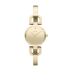 DKNY D-link ladies' gold plated bracelet watch - Product number 1383353