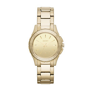 DKNY Broadway ladies' gold-plated bracelet watch - Product number 1383825