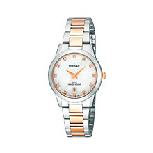 Pulsar Ladies' Two Tone Stone Set Bracelet Watch - Product number 1384260