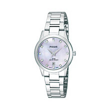 Pulsar Ladies' Stainless Steel Stone Set Bracelet Watch - Product number 1384279