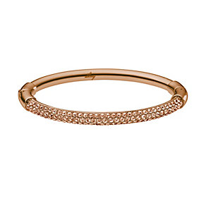 DKNY Rose Gold Tone Stone Set Bangle - Product number 1384309