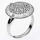DKNY stainless steel stone set disc ring - Product number 1384384