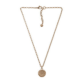 DKNY Rose Gold Tone Stone Set Necklace - Product number 1384392