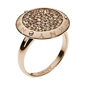 DKNY rose gold-plated stone set ring - Product number 1384422