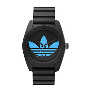 Adidas Santiago Men's Blue & Black Silicone Strap Watch - Product number 1386360