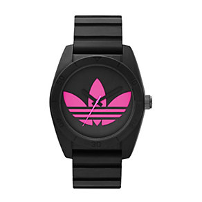 Adidas Santiago Men's Pink  & Black Silicone Strap Watch - Product number 1386379