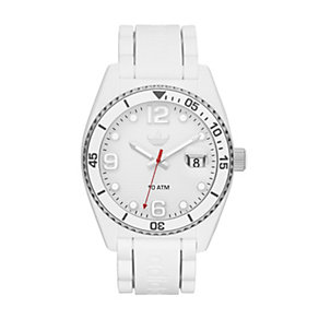 Adidas Brisbane Men's White Silicone Strap Watch - Product number 1386417