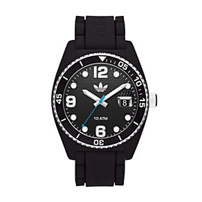 Adidas Brisbane Men's White & Black Silicone Strap Watch - Product number 1386425