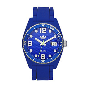 Adidas Brisbane Men's Blue Silicone Strap Watch - Product number 1386433