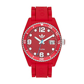 Adidas Brisbane Men's Red Silicone Strap Watch - Product number 1386441