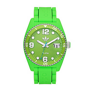 Adidas Brisbane Men's Green Silicone Strap Watch - Product number 1386484
