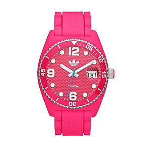 Adidas Brisbane Men's Pink Silicone Strap Watch - Product number 1386506