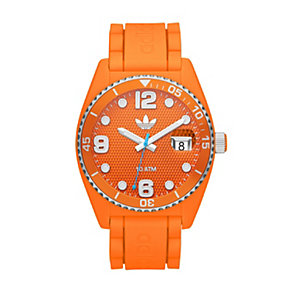 Adidas Brisbane Men's Orange Silicone Strap Watch - Product number 1386514