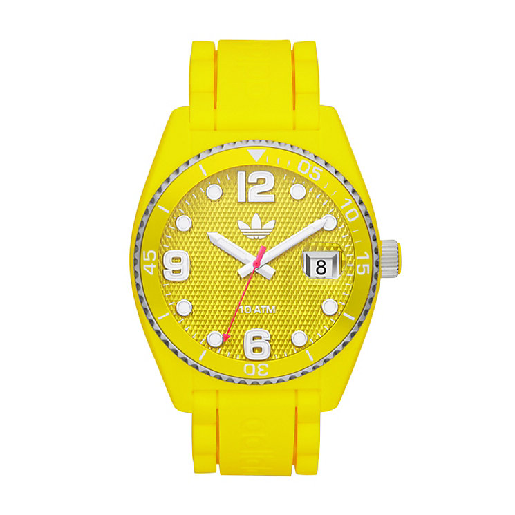 Adidas Brisbane Men's Yellow Silicone Strap Watch - Product number 1386522