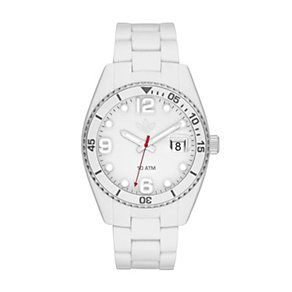 Adidas Brisbane Men's White Silicone Bracelet Watch - Product number 1386530