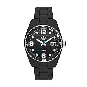 Adidas Brisbane Men's White & Black Silicone Bracelet Watch - Product number 1386549